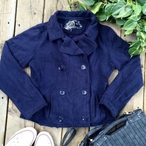 GAP Navy Double Breasted Pea Coat Size Large